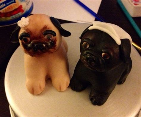 fondant pug 1000 ideas about pug wedding on wedding wedding cake toppers and