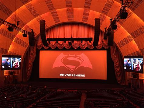 radio city music hall curtain presentation expertise for world premieres and screenings