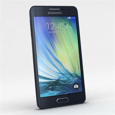 Samsung A3 Duos samsung galaxy a3 and a3 duos black 3d model buy samsung galaxy a3 and a3 duos black 3d model