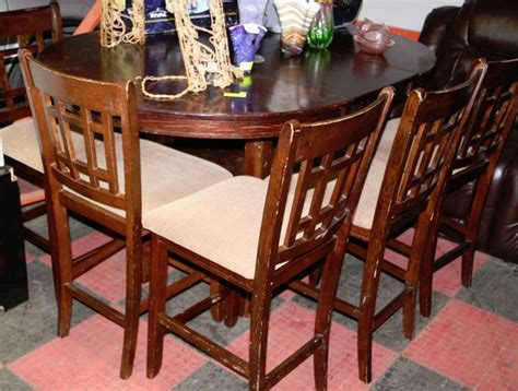 Used Bar Stools And Tables by Used Bar Table With 6 Stools