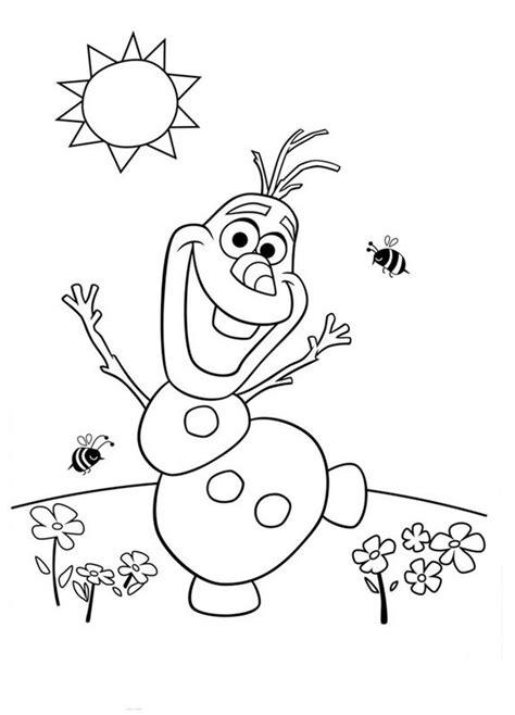 frozen spring coloring pages coloriage de la reine des neiges dessin olaf profite du