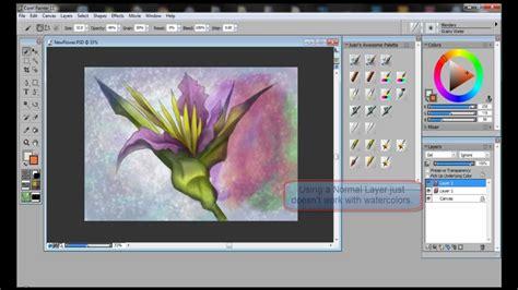 watercolor tutorial corel painter using digital watercolors with corel painter wacom