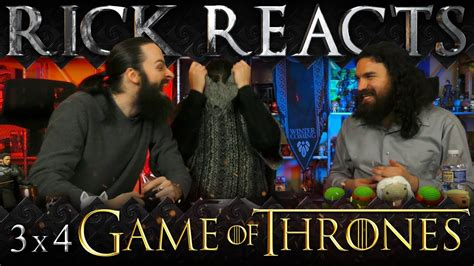 watch the game of thrones cast react to the purple game of thrones reaction s03e04 and now his watch is