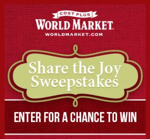 Worldmarket Sweepstakes - world market s share the joy sweepstakes win a 5 000 american express gift card