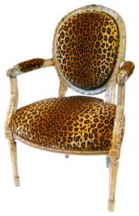 animal print accent chairs louis xvl style fauteuil with leopard print velvet