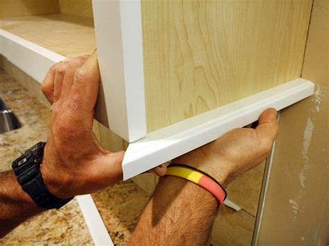 diy install kitchen cabinets how to install a kitchen cabinet light rail how tos diy