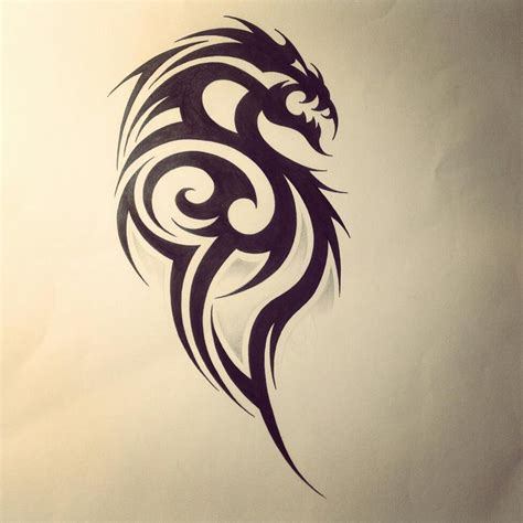 tribal dragon tattoos black tribal design