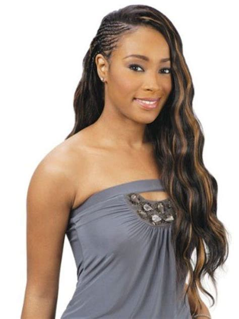 best hair extension method for african americas african braided hairstyles with wavy hair extensions
