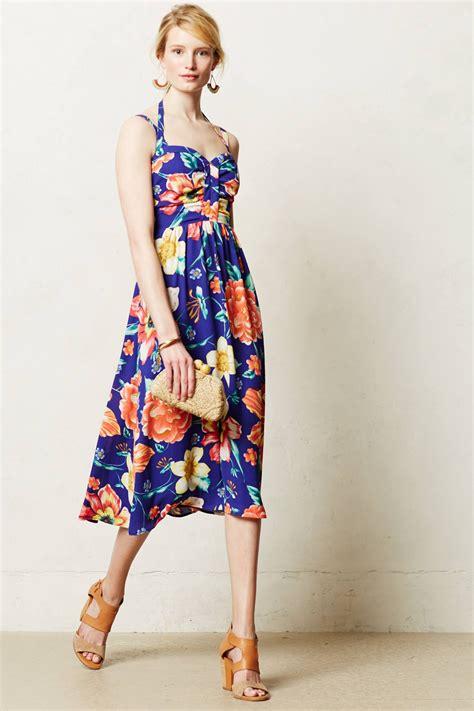 Anthropologie Summer Dress by Lyst Anthropologie Sls Floral Syn Midi