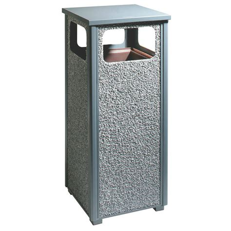 rubbermaid fgr122000pl 12 gal outdoor decorative trash can
