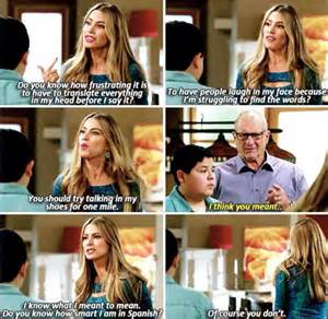 Modern family you should try talking in my shoes for one mile meme