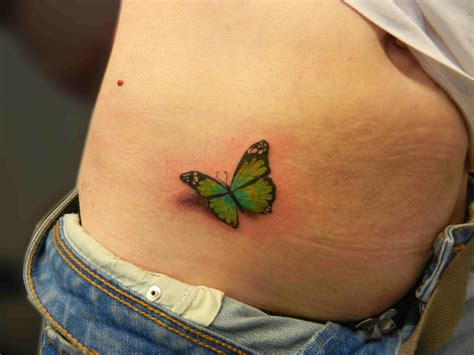 butterfly side tattoos insect tattoos secret ink