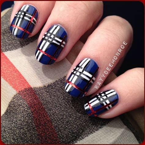 plaid pattern nails 5 nail designs inspired by fabric plaid nails by ig