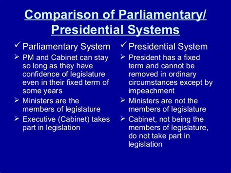 In A Parliamentary System From Where Are Cabinet Members by Organization Of The Government