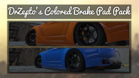 colored brake pads colored brake pad pack gta5 mods