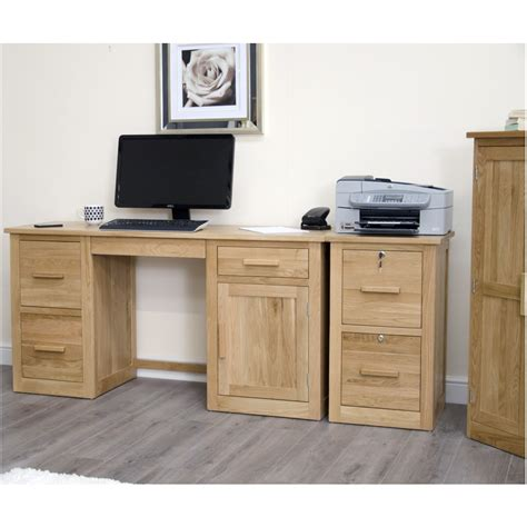 Solid Oak Furniture Oak Filing Cabinet Office Furniture Office Desk With File Cabinet