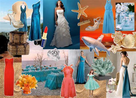 seaside wedding color scheme here comes