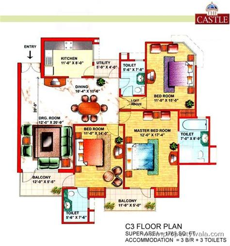 garden state plaza floor plan eldeco the castle sector pi greater noida apartment