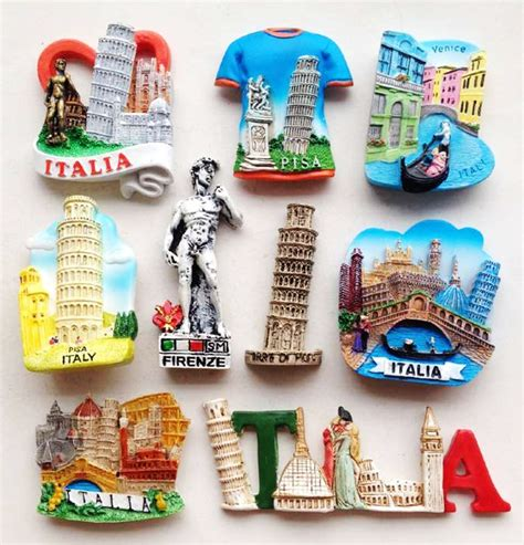 Souvenir Magnet Kulkas 1 high quality handmade italy leaning tower of pisa 3d fridge magnets world travel souvenirs