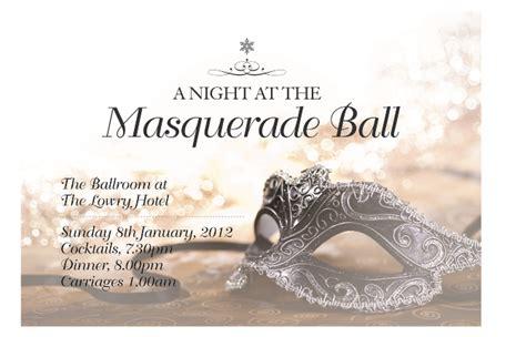 masquerade ball invitation janine wilcock design portfolio
