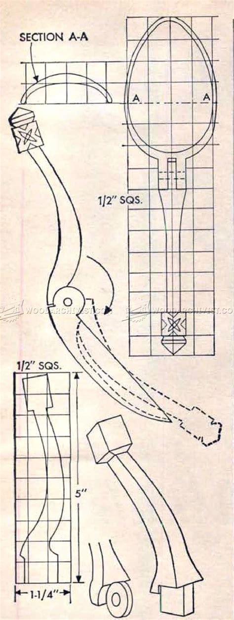 making folding wooden spoon woodarchivist