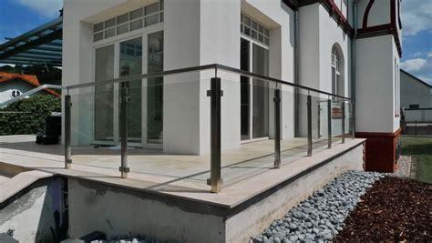 terrassengeländer edelstahl terrassengel 228 nder aus edelstahl und glas