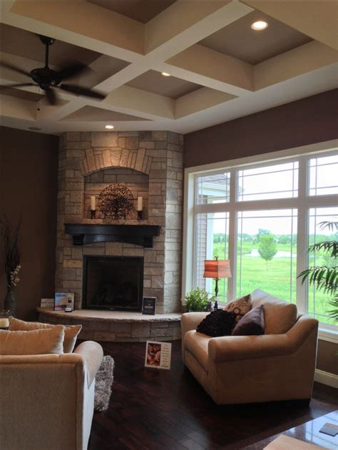 pin by ashley waldron on future home ideas pinterest future home idea love the corner fireplace and big