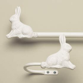 Bunny Curtain Holdbacks Contemporary Nursery Decor