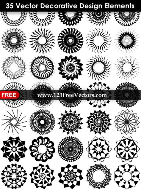 decorative design elements vector free 35 vector decorative design elements by 123freevectors on