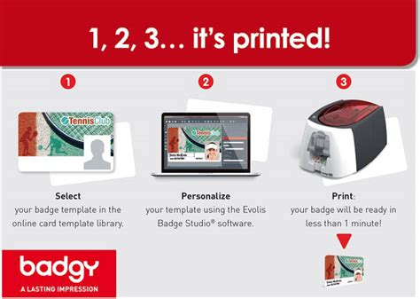 badgy card printer templates evolis badgy id card printer b22u0000rs free shipping