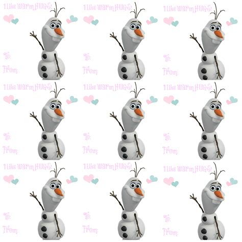 printable olaf tags mrs aok a work in progress valentines show tell