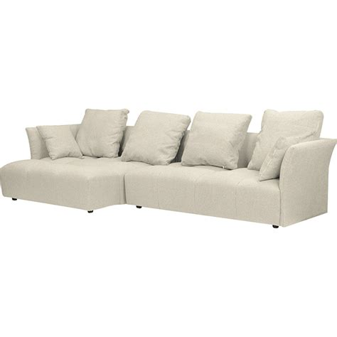left facing sectional sofa abbott left facing sectional sofa beige dcg stores