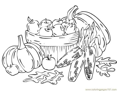 free coloring pages of autumn harvest