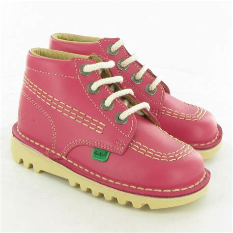 Sepatu Kickers Boots Leather 1 kickers leather kick hi boots in pink