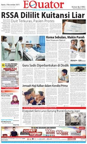 harian equator  november   pt kapuas media utama