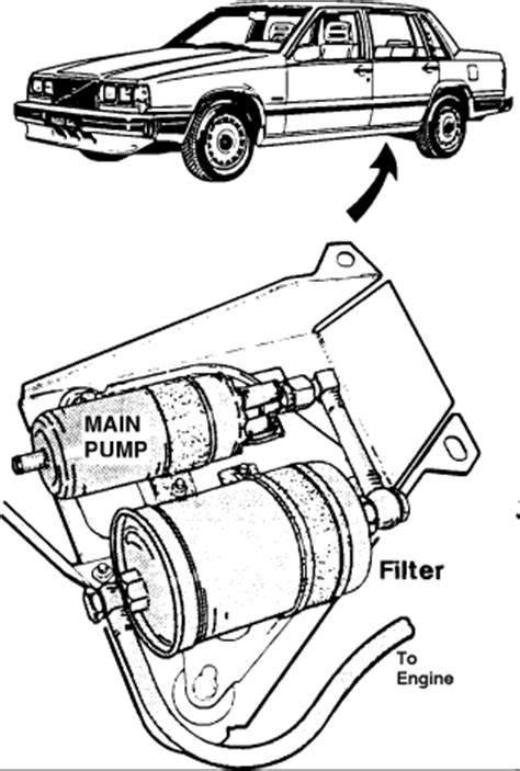 Diagram and instructions on how to replace the fuel filter