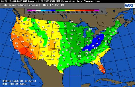 weather usa map tomorrow us weather map for tomorrow intellicast high temperatures