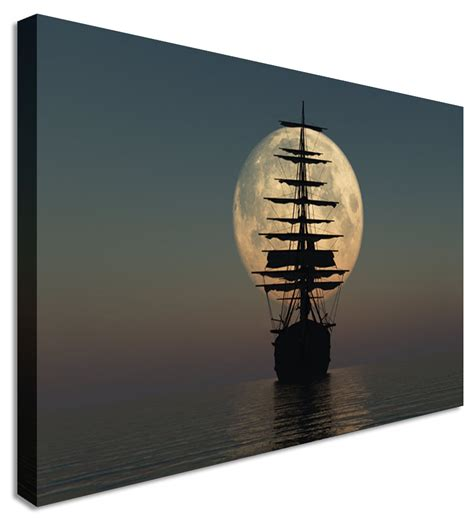 canvas prints pirate ship at sea canvas prints wall art picture large any size ebay