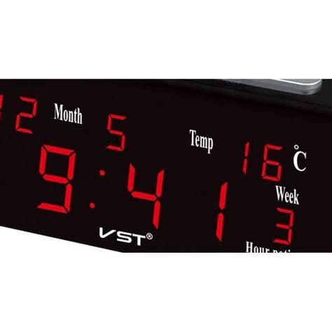 Jam Kalender Alarm Weker Temperatur Suhu Ruangan Jp9908 jual jam weker alarm meja led calendar temperatur vst