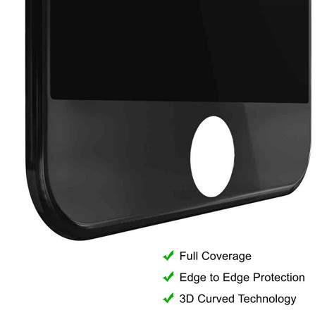tempered glass screen protector  iphone   black
