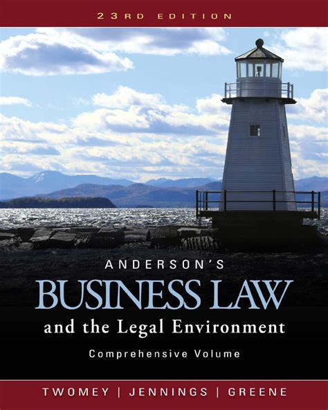 Anderson S Business Law And The Legal Environment 23rd 23e Pdf