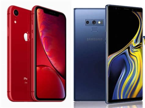 apple apple iphone xr rs 76 900 vs samsung galaxy note 9 rs 67 900 what s on offer the