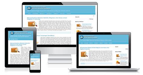membuat website hp membuat website sekolah dengan blogger dan template blog