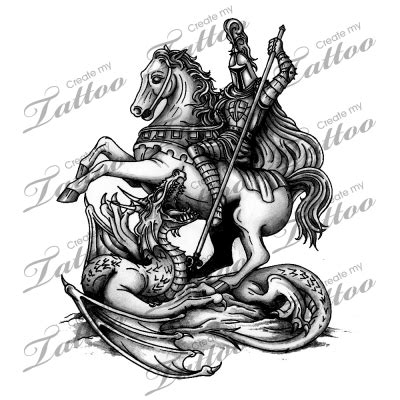st george tattoo designs free marketplace st george slaying the 2297