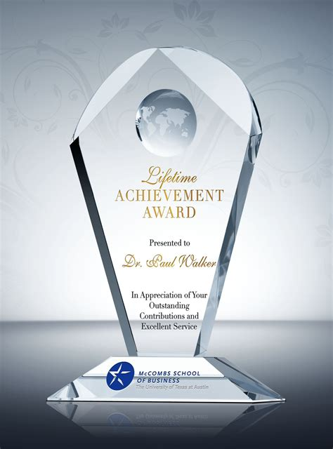 lifetime achievement award diy awards