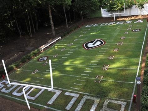 soccer backyard former georgia football player builds replica sanford