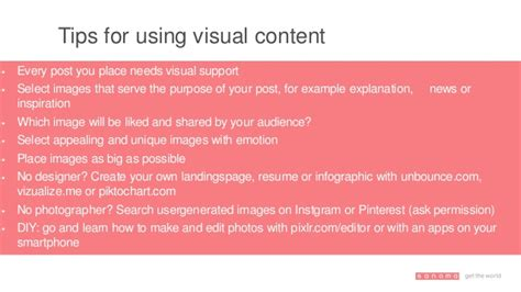 how to create the best visual content