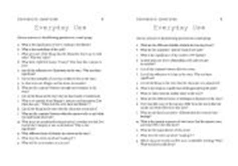everyday use worksheet teaching worksheets discussion