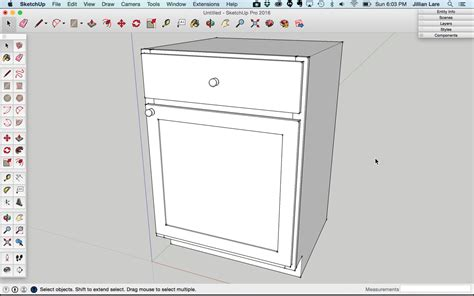 Draw Kitchen Cabinets How To Draw A Basic Kitchen Cabinet In Sketchup Design Student Savvy