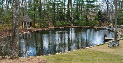 Garden Pond Ideas installation of a large pond water filtration system